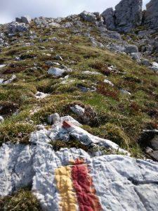La traccia in Salita al Monte Chiavals