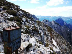 Il libro di vetta sul Monte Chiavals