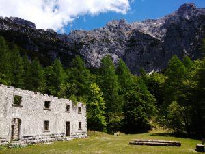 Crete di Gleris Sette Picche dall'Ospedale Militare di Val Alba