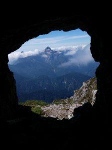 Il monte Sernio dalle Gallerie del Zermula
