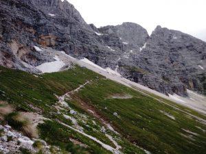 La via normale che porta al Montasio