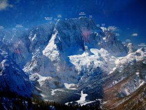 Mappa delle Alpi Giulie dal Lussari